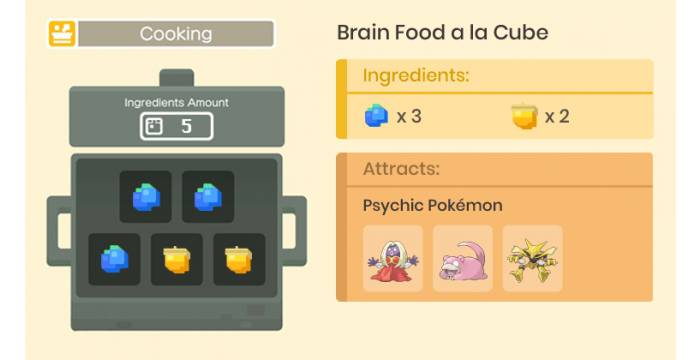 pokemon quest food