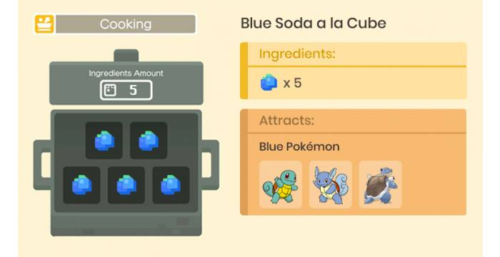 How Attract Blue Pokemon Best Recipe Cooking Guide For Pokemon Quest